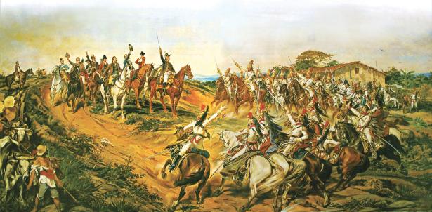 """""""Independência ou Morte"""" pintada por Pedro Américo foi encomendada por Pedro II ao artista e foi pintada em 1888 em Florença (Itália)."""