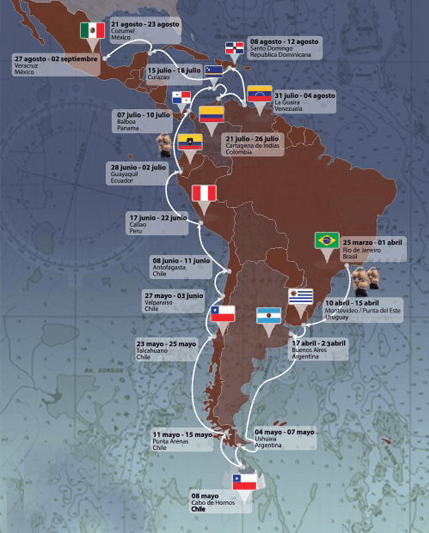 mapa naútico