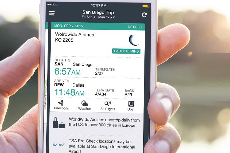app de viagem