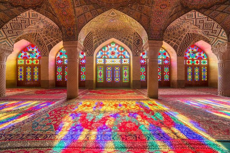 Nasir Al-Mulk Mosque (Pink Mosque), Shiraz, Iran