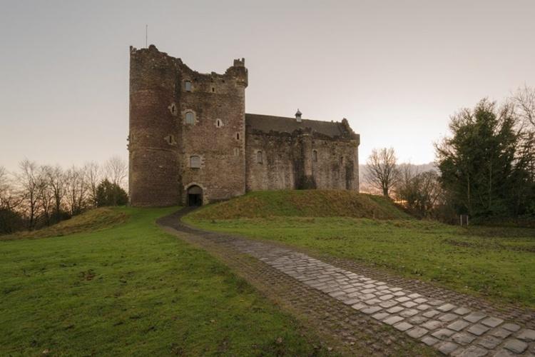 O Castelo de Doune, Escócia