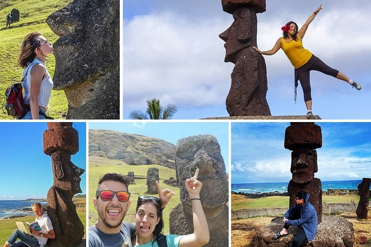 Selfies de turistas