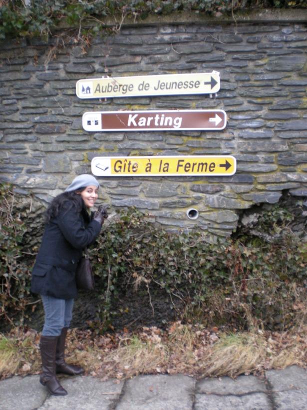 A caminho de um Hostel na Bélgica