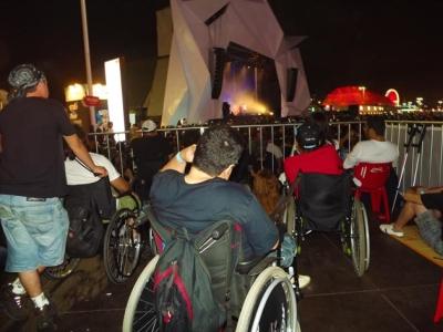 Acessibilidade - visão para o palco Sunset