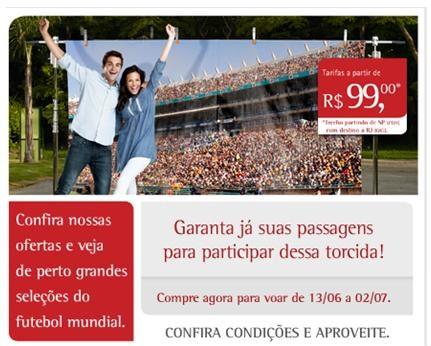 Anúncio da companhia destaca que TAM oferece assentos em voos