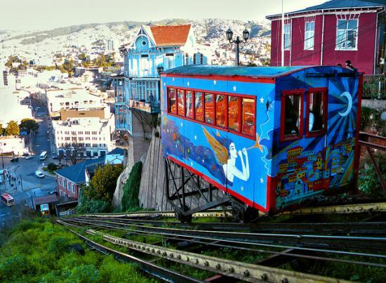Ascensor Artillería, Cerro Artillería, Valparaíso.