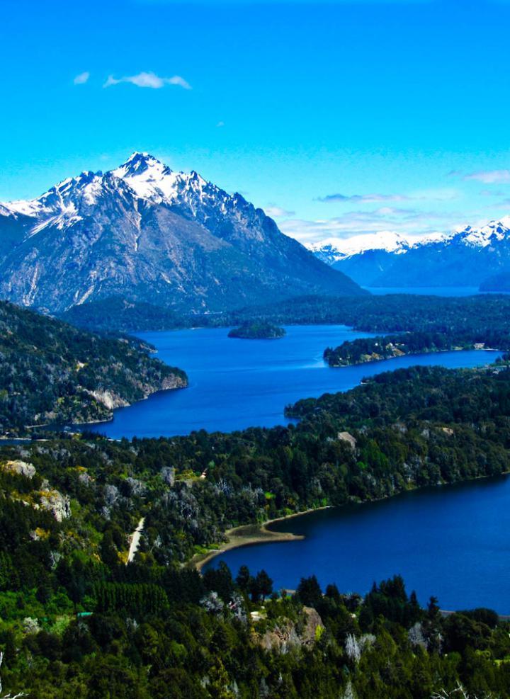 Bariloche, Argentina Lagos Morenos and at the back, Lago Nahuel Huapi