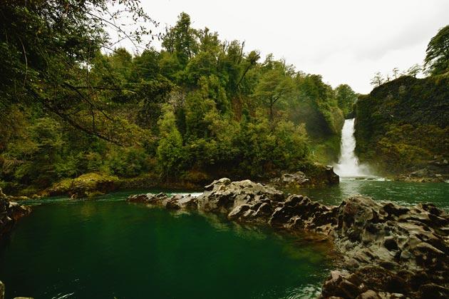 Cachoeira em Huilo Huilo