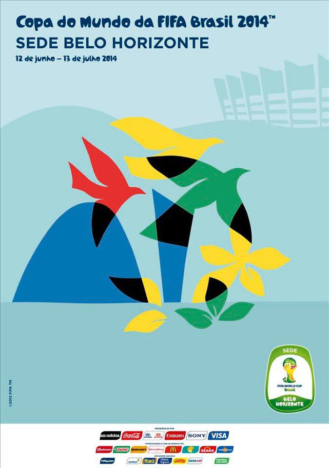 Cartaz Oficial da Copa de 2014 - Belo Horizonte