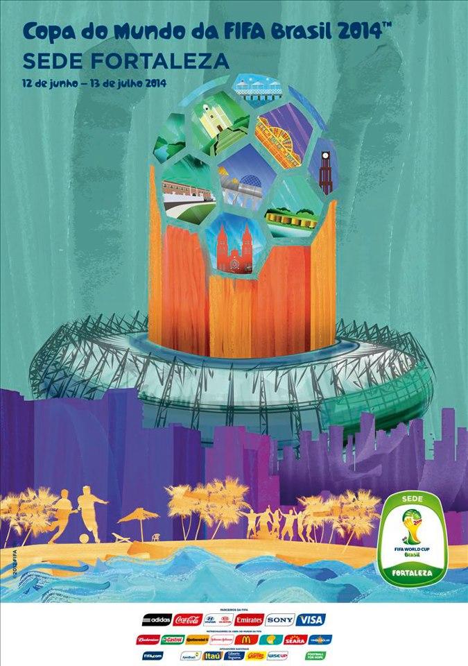 Cartaz Oficial da Copa de 2014 - Fortaleza