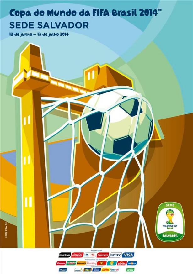 Cartaz Oficial da Copa de 2014 - Salvador