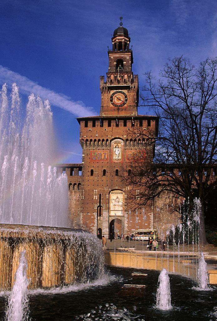 Castelo Sforzesco, em Lombardia