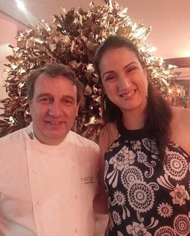 Chef Roland Villard com Naira Amorelli