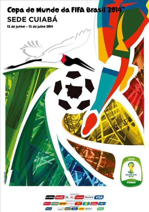 Cuiabá e o cartaz oficial da Copa do Mundo FIFA 2014