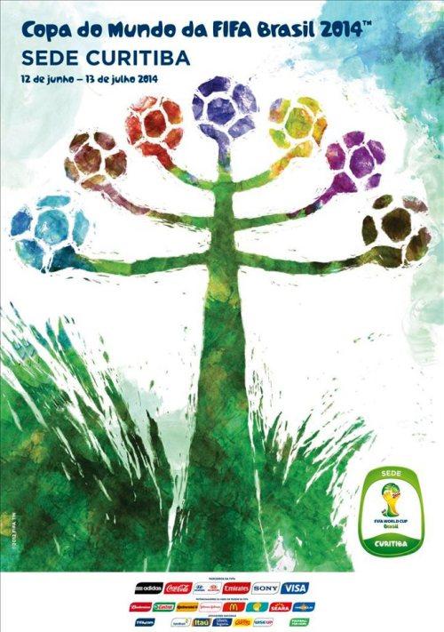 Curitiba e o cartaz oficial da Copa do Mundo FIFA 2014