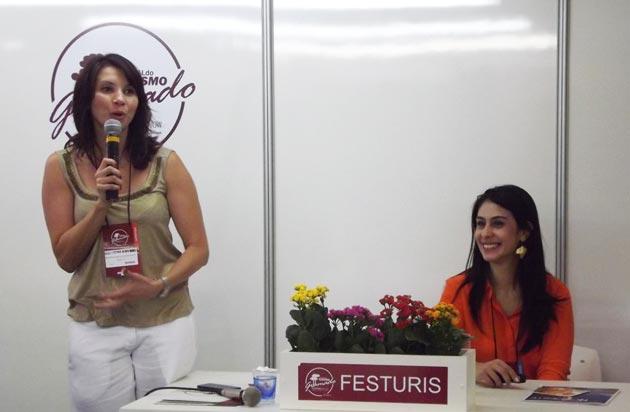Maria Luciana Alves Nunes, Diretora de redação das revistas Curta Pernambuco e da Curta Nordeste e a diretora de Marketing da Empetur, Luciana Fernandes.