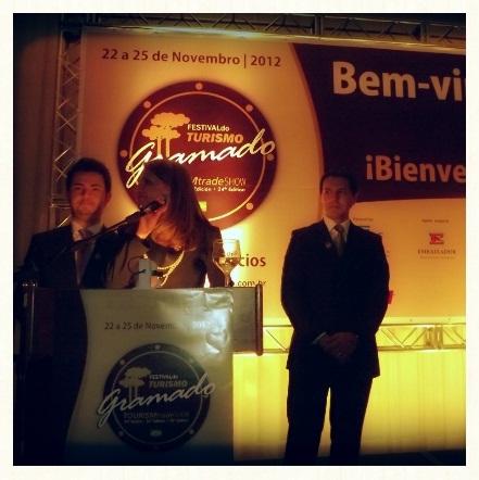 Diretores do evento; Marcus Vinícius, Marta Rossi e Eduardo Zorzanello.
