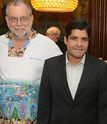 Enrique-Matín Ambrosio, diretor-geral Brasil e de Expansão da América Latina da Air Europa e o prefeito ACM Neto