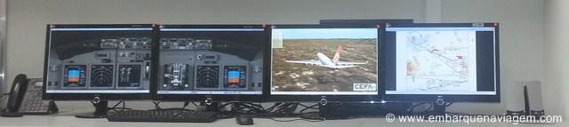Equipamento de monitoramento de todos os voos da Gol