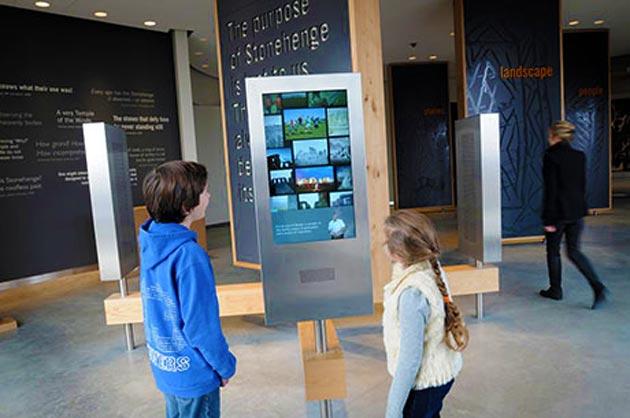 Espaço de exposição no novo centro de visitantes