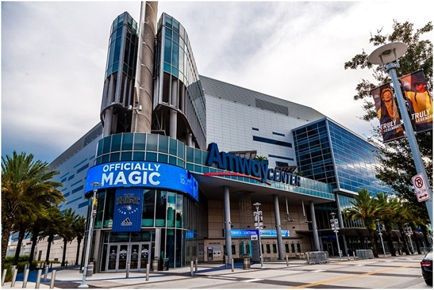 Fachada do Amway Center. Foto: Lidiane Minella