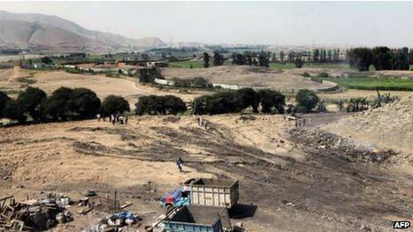 Foto divulgada pelo ministério da cultura mostra área onde se encontrava a pirâmide