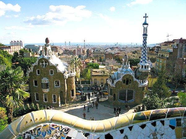 Guell Park é considerado um dos patrimônios mundiais da Unesco desde 1984