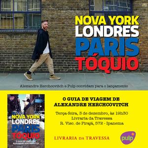 Guia de Viagens com dicas de Nova York, Londres, Paris e Tóquio