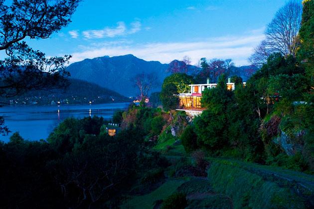 Hotel Antumalal com vista panorâmica para o Lago Villarrica