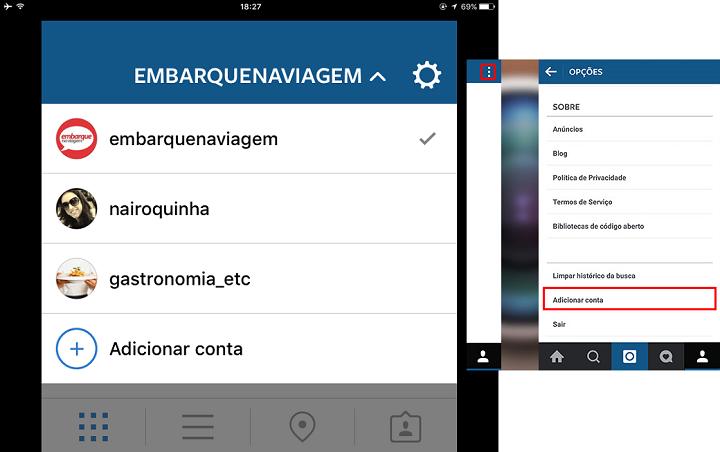 A partir da versão 7.15 do Instagram, qualquer usuário pode vincular até cinco contas simultaneamente.