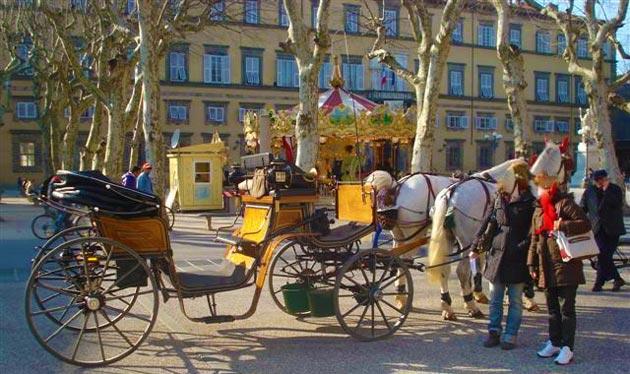 Lucca com passeio de carroça