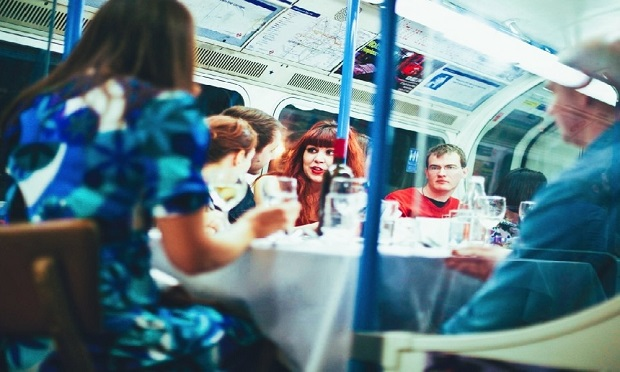 Luxury Dining Experience on a London Tube Carriage 2
