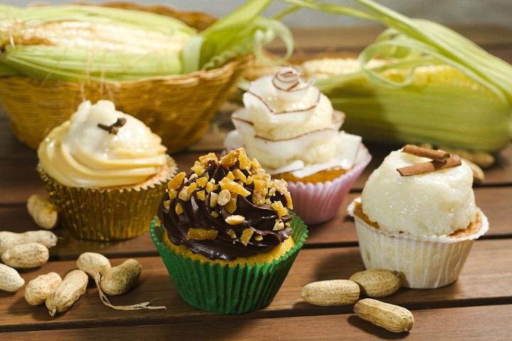 Cupcakes de festa junina. Foto: Fernando Frazão