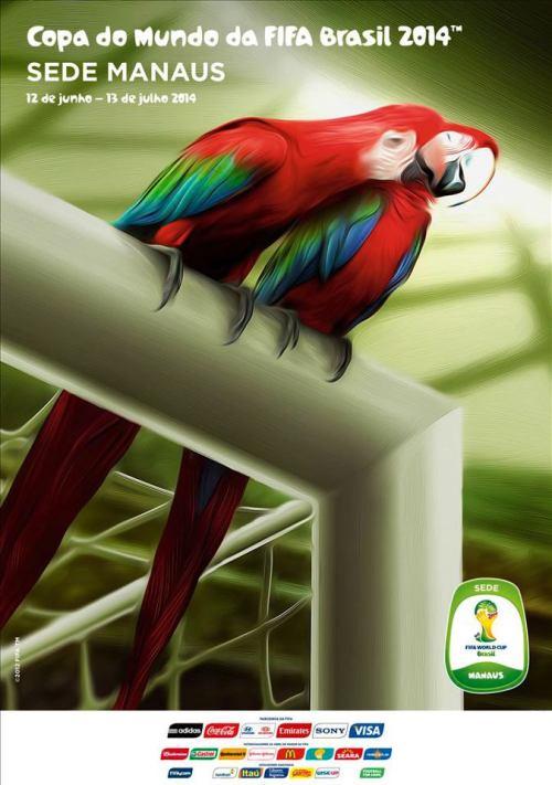 Manaus e o cartaz oficial da Copa do Mundo FIFA 2014