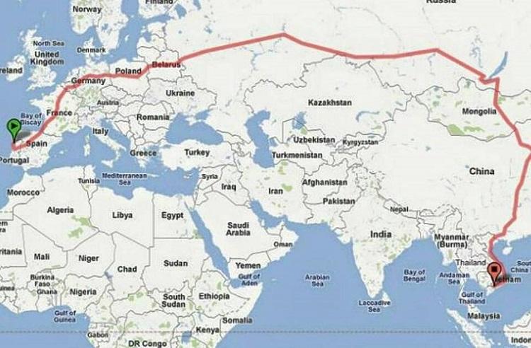 Mapa de trem
