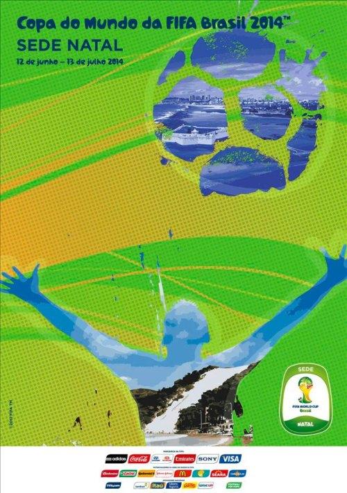 Natal e o cartaz oficial da Copa do Mundo FIFA 2014