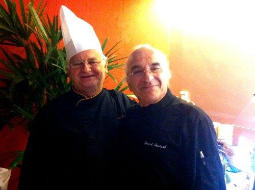 Chef Jean Yves Poirey e Maitre Fromagier Gerard Poulard. Foto by Filico