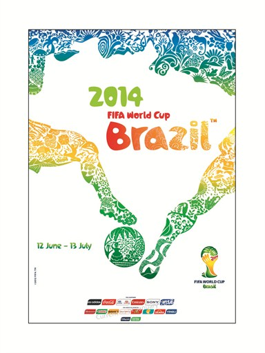O pôster oficial da Copa de 2014 (Foto Fifa.com)
