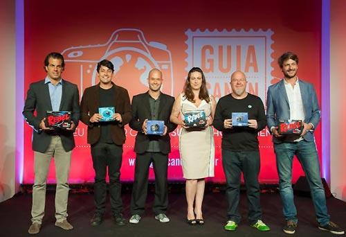 Os blogueiros convidados; Álvaro Garneiro, Bruno de Luca,  Gabriel Britto, Ailin Aleixo, Ricardo Freire e Emerson Viegas.