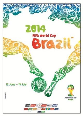 Pôster oficial da Copa de 2014 (Foto Fifa.com)