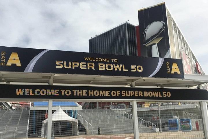 Palco da final do Super Bowl