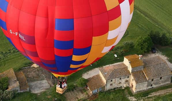 Passeio de Balão pelas colinas Toscanas