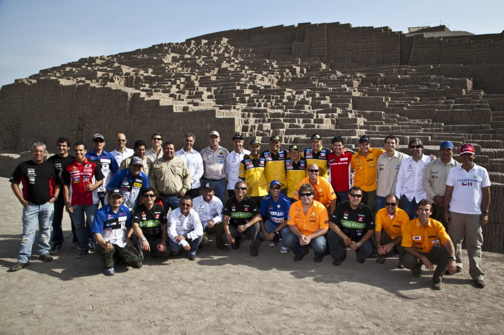 Pilotos Rally Dakar no Peru