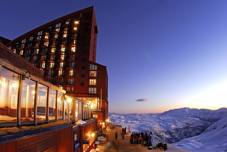 Por do Sol em Valle Nevado