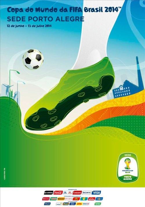 Porto Alegre e o cartaz oficial da Copa do Mundo FIFA 2014