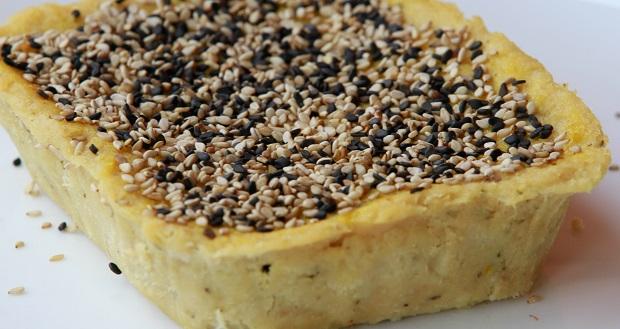 Porto do Sabor -  empadão funcional sem farinha, massa de frango com batata doce e recheios de espinafre com cottage ou peito de peru com queijo minas
