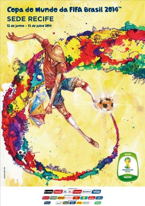 Recife e o cartaz oficial da Copa do Mundo FIFA 2014