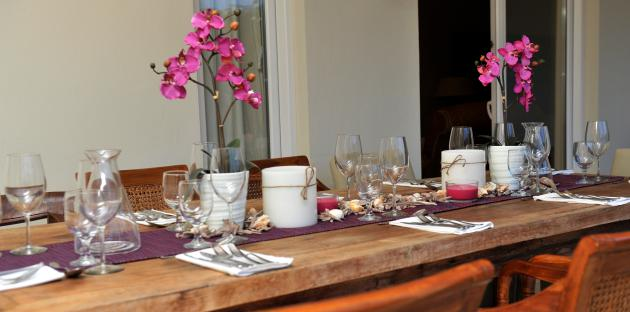 Rent a Chef - Mesa preparada para o jantar