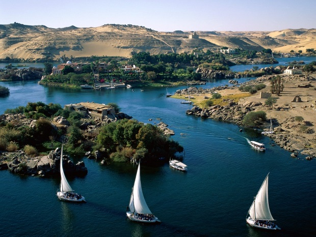 Rio Nilo, Aswan.