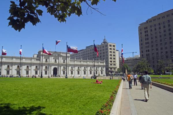 Santiago, Chile. Palacio de la Moneda.Cred. Serv Nacional del Turismo